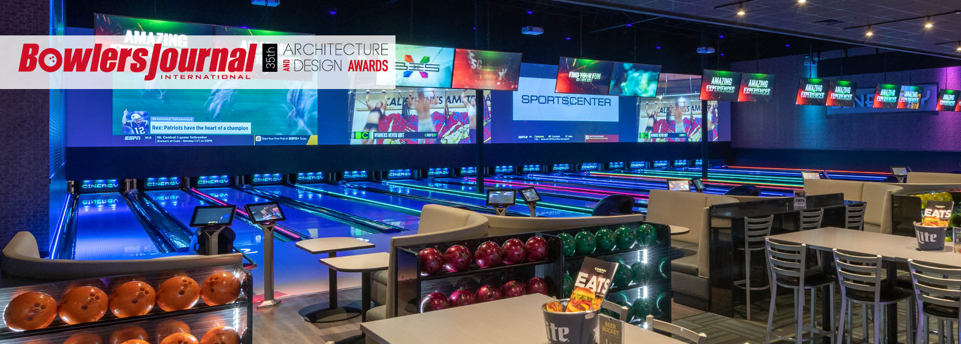 QubicaAMF bowling 35 architectual design awards home banner Cinergy Amarillo