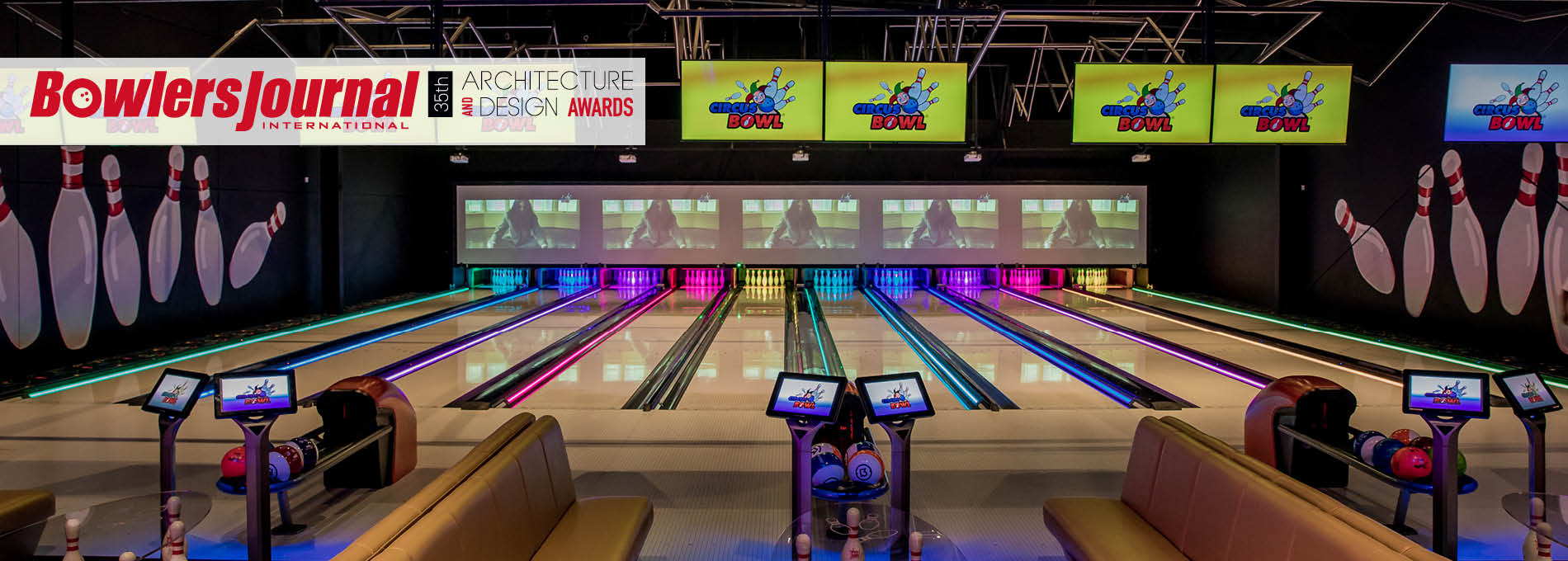 QubicaAMF bowling 35 architectual design awards home banner Circus Bowl