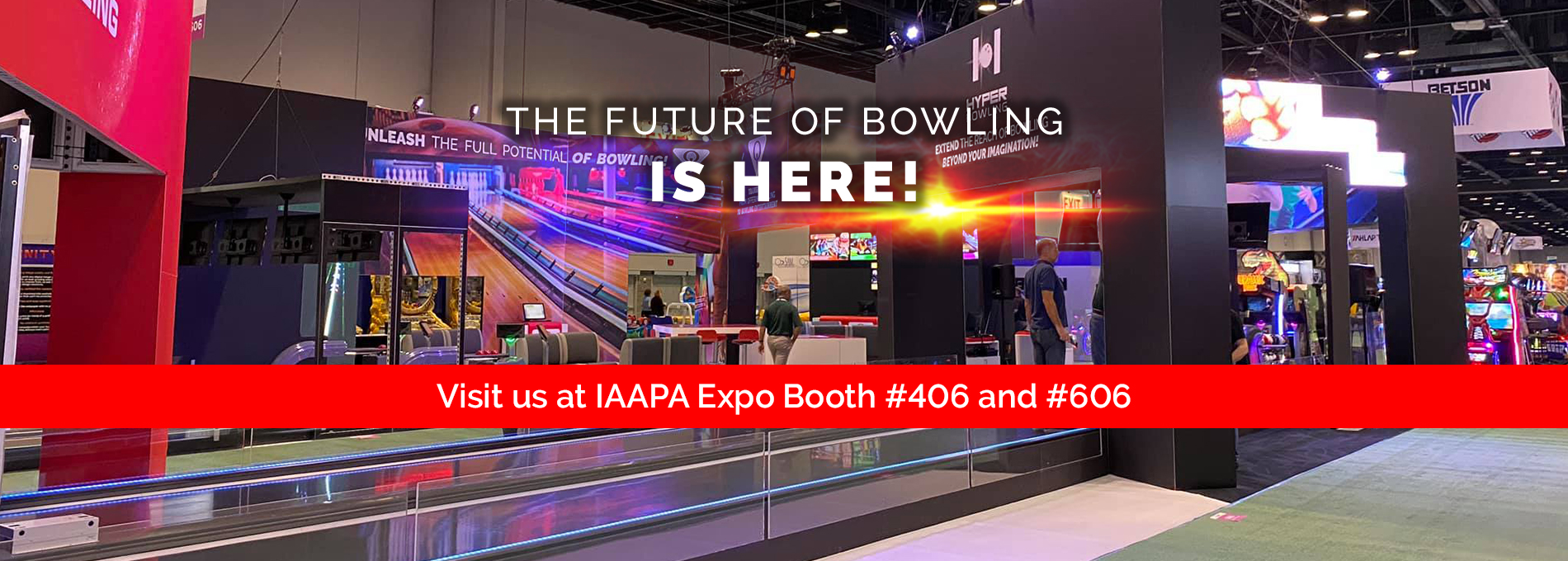 QubicaAMF bowling IAAPA Expo booth 2019