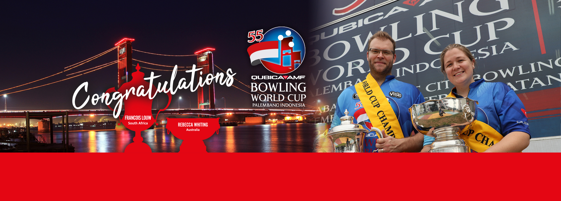 55th QubicaAMF Bowling World Cup winners Congratulations