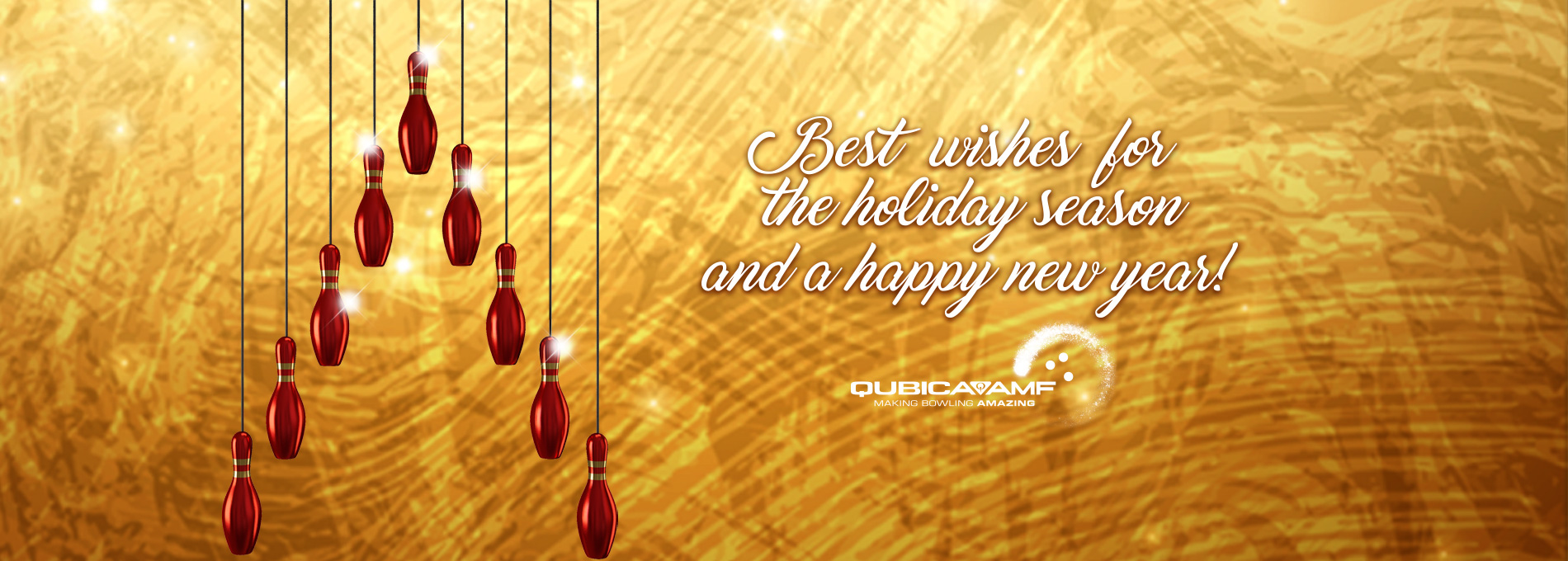 QubicaAMF Bowling happy holidays 2019 home banner