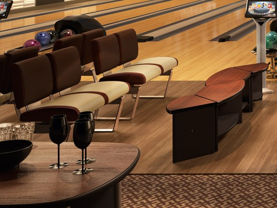 Bowling QubicaAMF Furniture Harmony Table Increases Your Revenue.